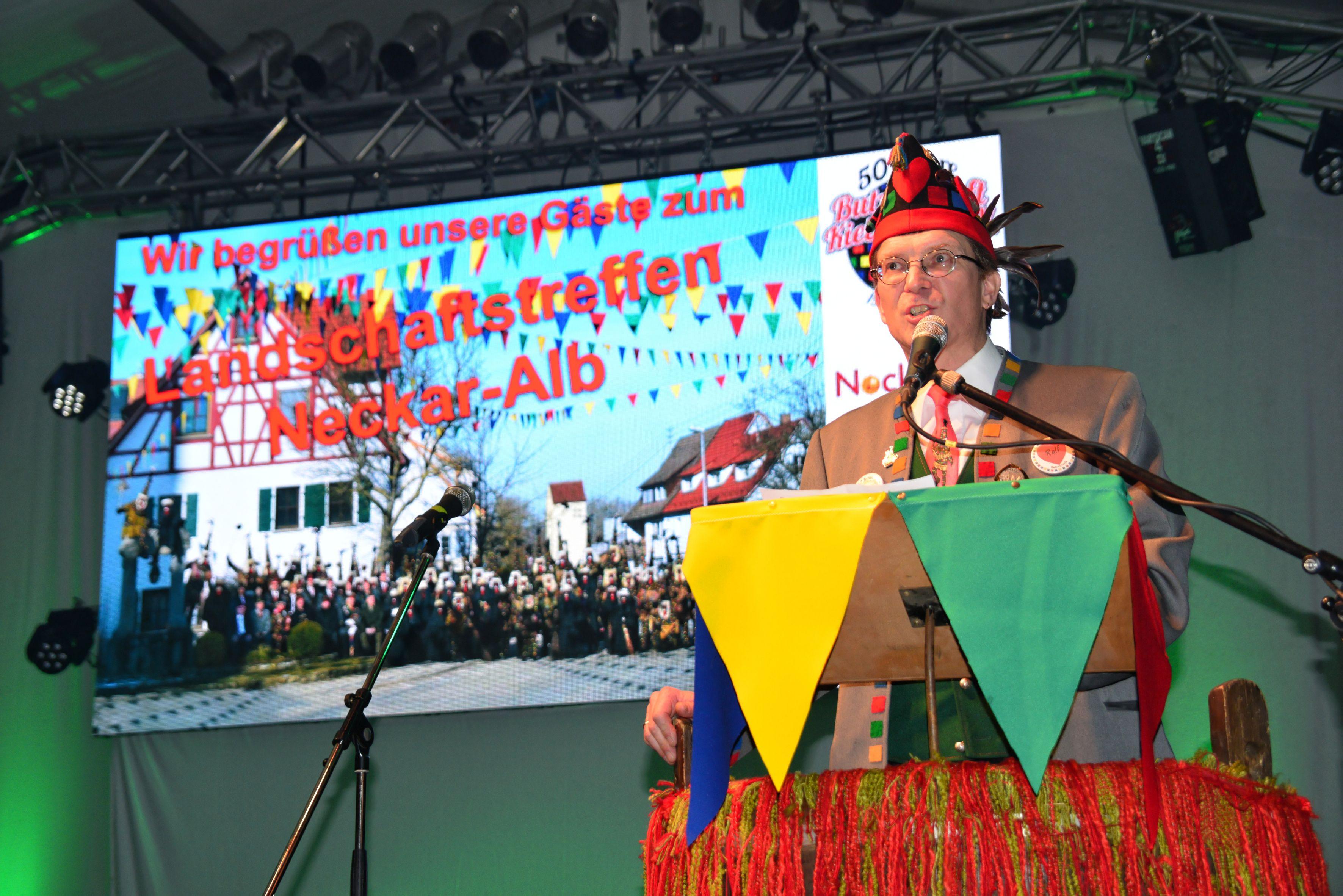 Begrüßung der Gäste durch den Zunftmeister Ralf Eberhardt