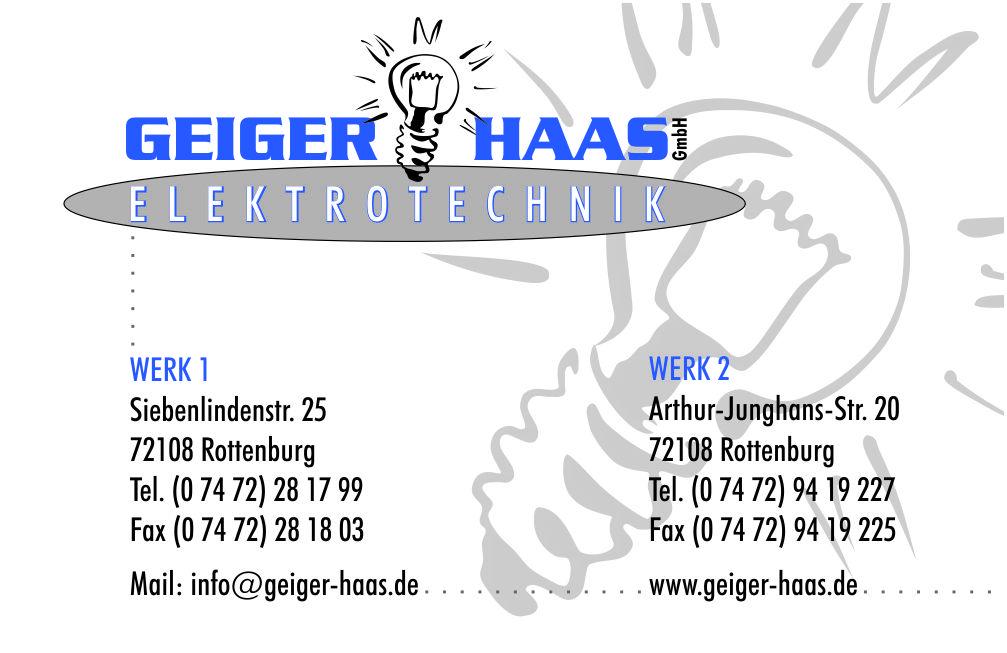 Geiger und Haas